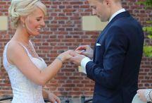 Bruiloft / Thema blauw wit met kunstbloemen. Bruidsboeket Ook door mij verzorgt!