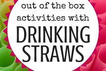 drinking straw activities