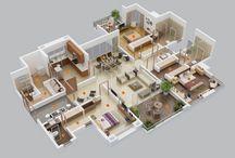 interioare case 3d