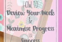 Progress + Success / Tips on how to maximise your potential and capitalise your ability to achieve. Complete your goals, stay motivated and be your most productive self with these tips!
