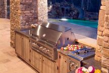 Fire pits and outdoor kitchens
