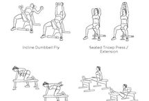 Chest, shoulders and triceps