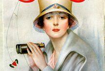 retro magazines and advertisment
