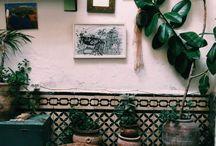 Palm Lady Wallpaper Mood Board