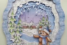LOTV - James the Bear / 28 Digi stamps of the gorgeous James - Christmas and Everyday x