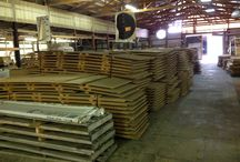 Particle Board / HOOD'S West Alton, Missouri has 61 bundles of Industrial particle board 13/16 inch (3/4 inch) 12 feet by 3 feet.  Use these board for making pallet rack, unfinished counter top, or residential shelving.