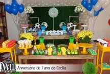 Aniversário de Cecília - 1 Ano / Os pais da Cecília escolheram o Espaço W11 em Belo Horizonte para comorarem o seu primeiro aniversário. Confira as fotos e veja como ficou a decoração temática de futebol linda.  Acesso o site http://espacow11.com.br/ e conheça nosso espaço.