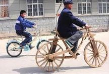 Weird Wooden Transport / Cars motorbikes and other forms of transport made of wood.