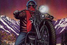 Vintage motorbike art