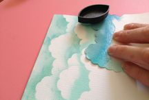 paper arts / chalk clouds