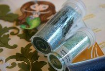 Craftroom: Glitter,flocking,stickles / Ideas for using glitter, flocking and stickles