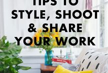 Photo & Video for Business / Learning to take great, well lit, beautiful shots for your website, shop, Instagram, etc are essential when running an online business - here are resources, tips, and tuts.