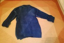 my creations / A blue sweater that was transformed into a fashion jacket. Made by Roula Antypa,