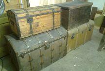 Trunk, Utazóláda, Hajóláda / Antik hajóbőröndök, utazóládák. Trunk.