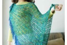 loom knitted shawl