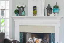 Fireplace/Mantel ideas / by Mallory Hagood