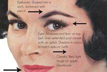 50s makeup & hair