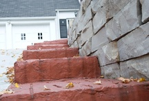 Concrete Walkways and Stairs / Upgrade your sidewalk from ho-hum gray concrete. Using decorative concrete to build or replace your walkways, steps and stairs, is a great way to enhance your curb appeal and complement your landscape.
