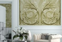 Wall art / The exquisite wall decorations we produce are made on a 1mm layer of rollable plaster, a completely handmade backing and they are installed directly on site.