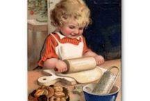 Láminas - Damas y niños