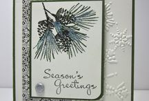 Watercolour Winter stamps