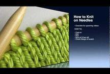 Needle Knitting tutorials