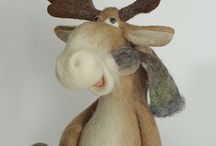 Funny felted animals