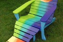 Adirondack Chairs Painted Art