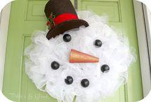 Mesh Christmas Wreaths / by Patty Hanson