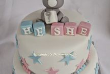 babyshower en gender reveal taarten