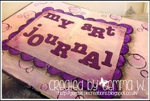 My Art Journal / These are my art journaling pages created with my own 2 little crafty hands!!