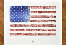 """The Letterpress Flag - 4th of July / Limited Edition American Flag Letterpress Art Print 100% of the sales proceeds benefit Operation Homefront.  http://cgi.ebay.com/ws/eBayISAPI.dll?ViewItem&item=150847480203  Printed by the Living Letter Press in June of 2012. 20"""" x 26"""" Printed with wood and metal type on 100% cotton Crane's Lettra® paper."""