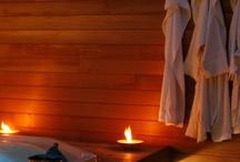 Aqua Viva privé sauna / Bezoek onze privé sauna te Sijsele (Damme) Geniet van elkaar in alle rust van de sauna met kleurentherapie, stoomcabine en jaccuzi! / by Jo Dierick