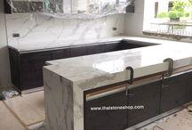 หินสังเคราะห์ statuario venato ติดตั้งท็อปครัว / หินสังเคราะห์ statuario venato size 1.5x3.0 ม. ใช้ติดตั้งท็อปครัว
