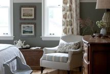 Home design - walls / Ideas for painting, moldings and other wall coverings  / by Kathryn Tummino