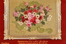 Schema punto croce bouquet