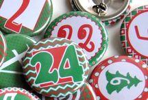 Adventskalender / advent calendar / Adventskalenderzahlen zum Anstecken, kleben oder anhängen. Adventskalender Faltschachtel, Streichholzschachteln oder Tütchen. Beklebt, gestempelt, und vieles mehr. Advent mit Liebe gemacht.
