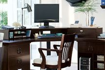 Home Office Wishes / I'm working on building my dream home office. These ideas are inspiring. / by Kevin McAdams