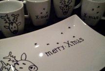 kerstserviezen.... maak het zelf! / Creëer zelf een prachtig, hip en uniek servies! leuk voor kinderen, feestjes en feestdagen!