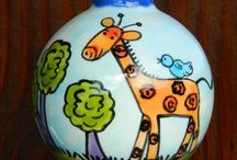 Personalized Ornaments / Hand Painted Ornaments that can be personalized with a name and a year.