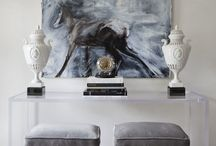 Art + Interior Design / We love it when we see art really light up an interior design!