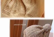 かぎ針編みの帽子
