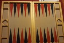 Erhan's 869bg wooden backgammon boards. / Images of Erhan's unique wooden backgammon boards.  Each side of the board is made from a single piece of wood!