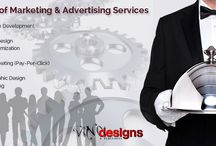Vinci-Designs Services / Vinci-Designs is a full service marketing agency. Any marketing needs you might have are covered!