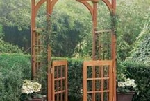 *Everyday Gardens:  Trellises / Who Doesn't Love a Pretty Trellis?  / by The Everyday Home