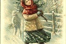 cartoline vittoriane Natale