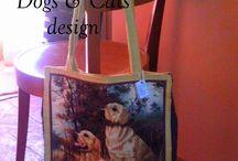 ♥My works: Dogs & Cats design 2013♥ / Borse fatte a mano con cani e gatti. Pezzi unici numerati