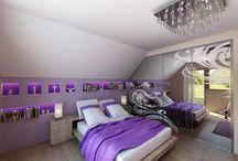Bedroom Insprations / Sypialnia, łóżko, szafy zabudowane