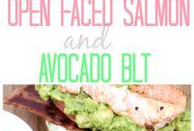 Salmon and Avocado BLT