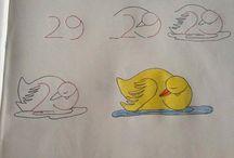 Детям.Рисунки на основе цифр